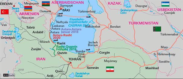 Lok Report Aserbaidschan Iran Grenzuberschreitende Verbindung Astara Astara Aufgenommen Finanzierung Zur Weiterfuhrung Gesichert