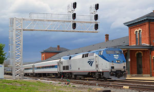 amtrak test train with siemens charger locomotive jackson, michigan may 5, 2017 d. leffler