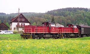 privatbahn guterzug 1 veringendorf, germany may 1995 d. leffler